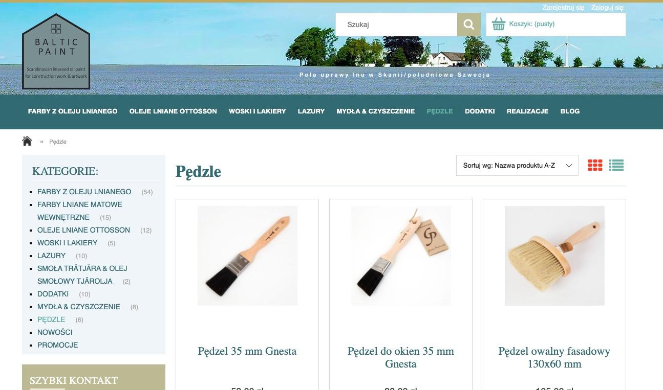 BalticPaint.pl sklep internetowy z farbami