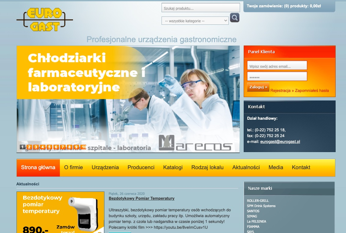 Eurogast – dystrybutor sprzętu dla gastronomii