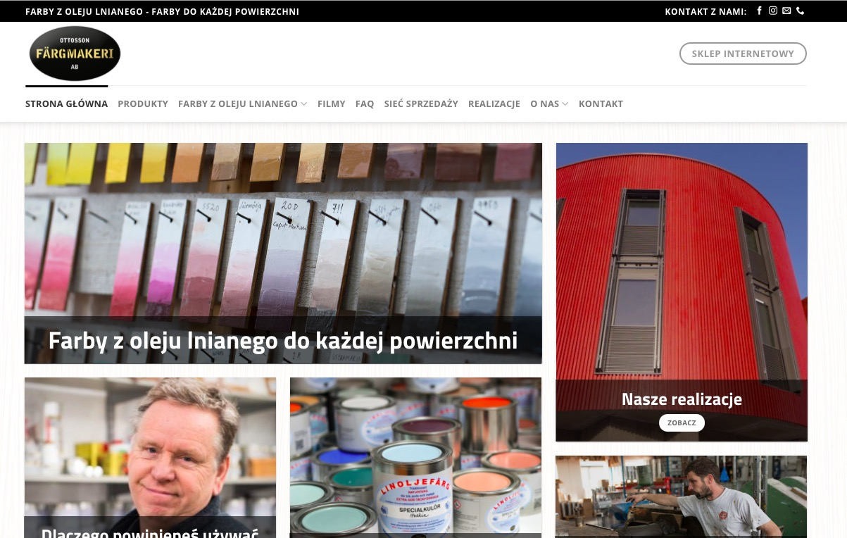 OttossonFarby – producent farb z oleju lnianego