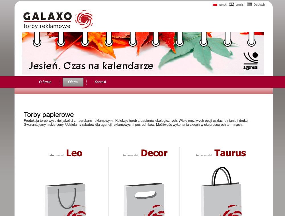 Galaxo producent toreb reklamowych