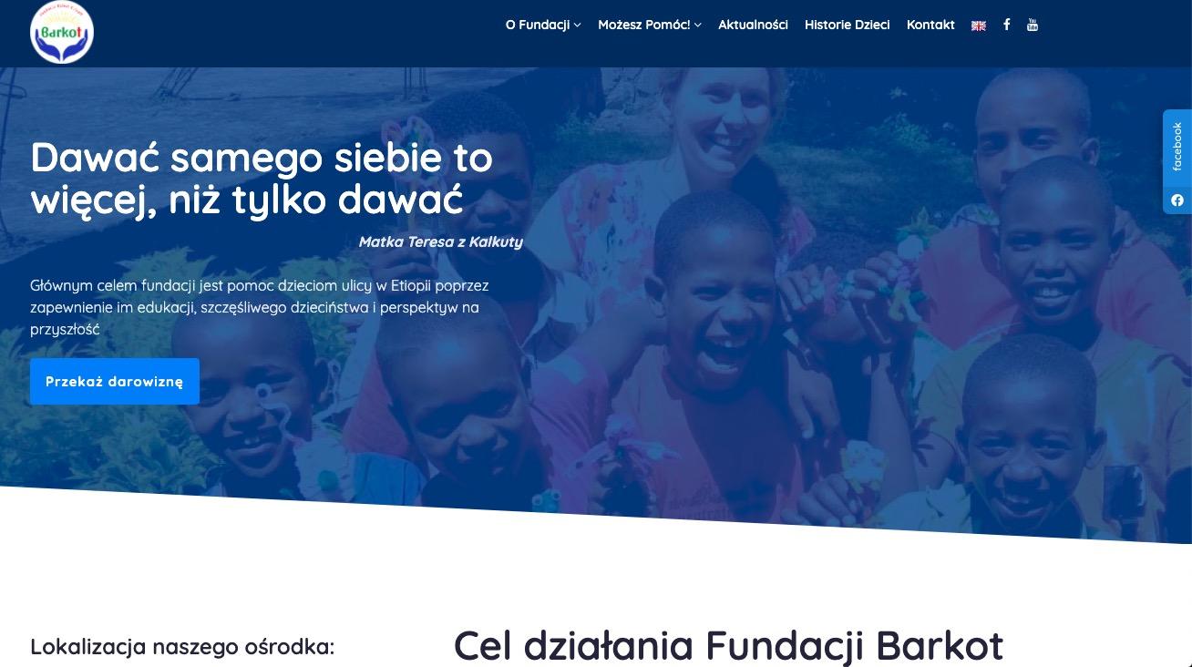 Barkot.pl nowa strona dla Fundacji