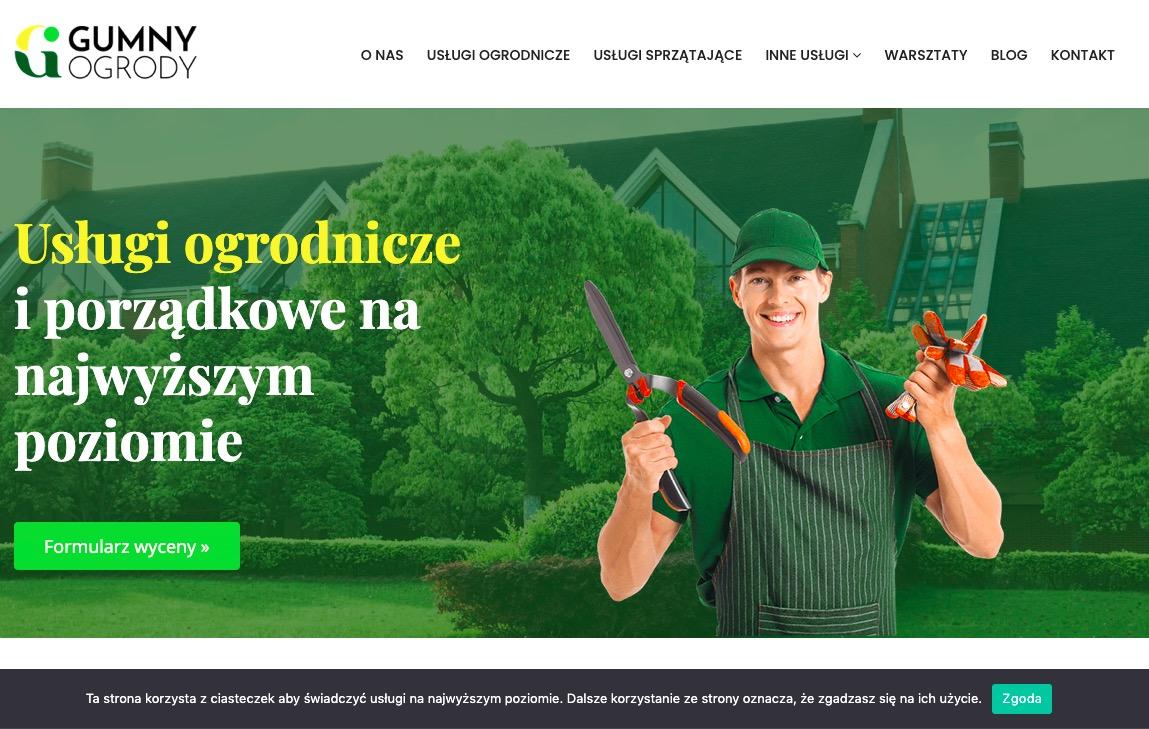 Gumny-Ogrody.pl strona dla firmy z Łodzi