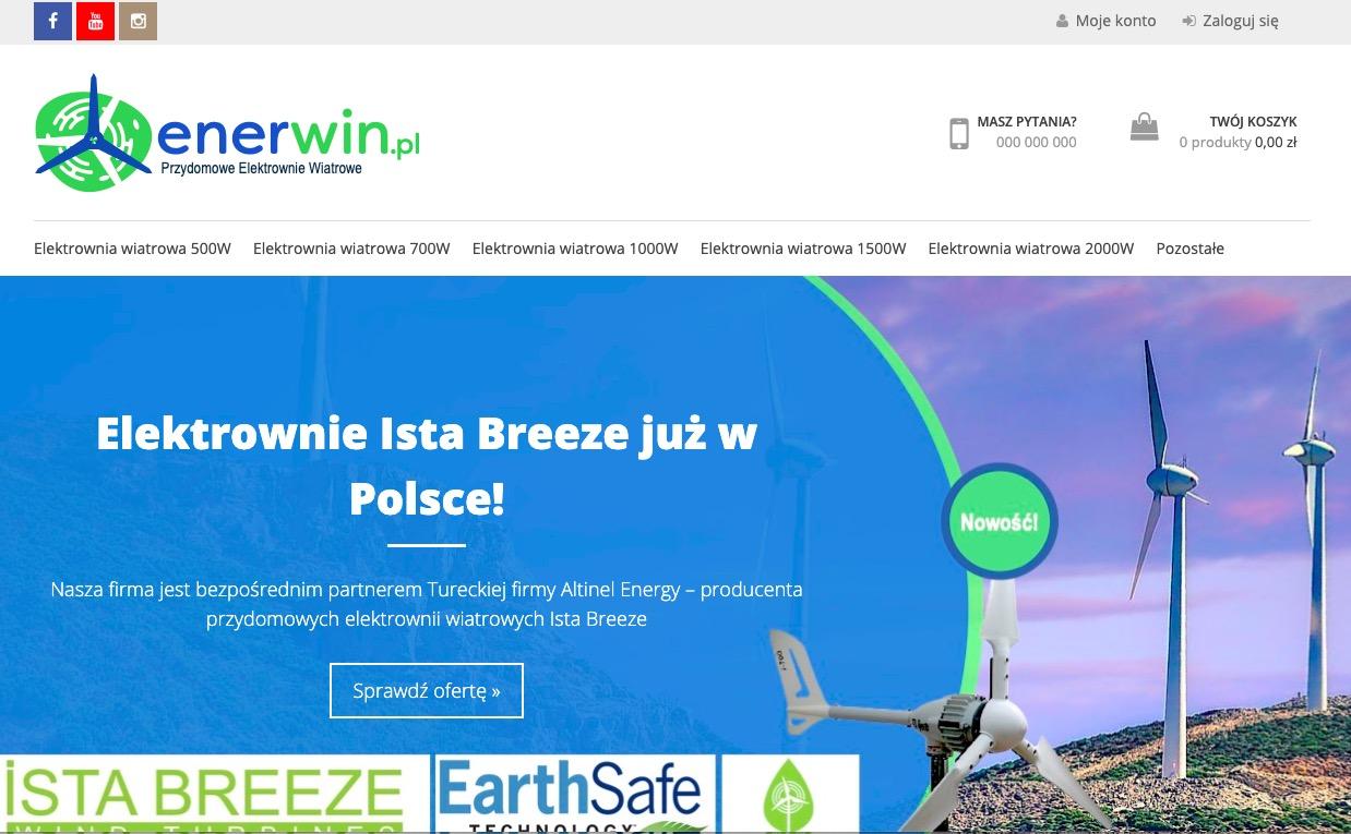 Enerwin.pl – sklep internetowy z elektrowniami wiatrowymi